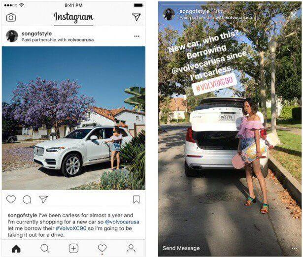 L'uso dei tag partnership di Instagram