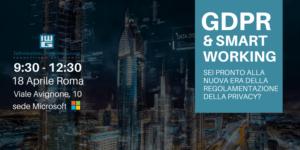 Seminario per fare chiarezza su GDPR e Smart Working