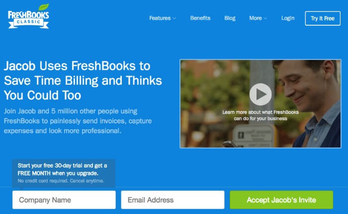 Landing page con video