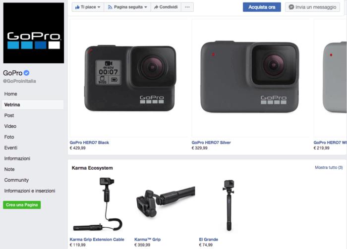 prodotti venduta su Facebook